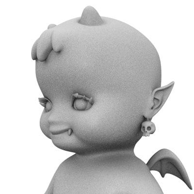 3d devil baby model
