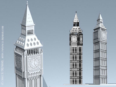 3ds max london building clock