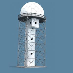 air route surveillance radar 3d max