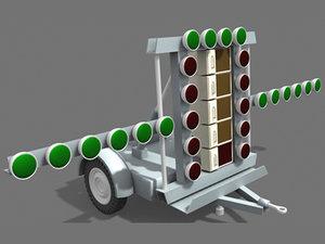 3d model airport cart