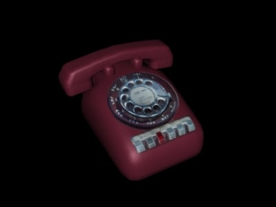3d model tower crash phone