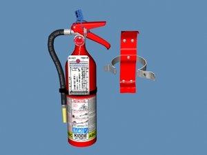 3d model fireextinguisher bracket