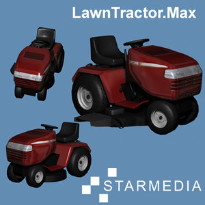 3d model of lawn tractor