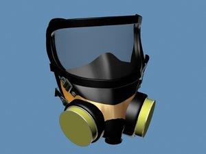 3d model respirator face