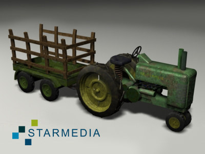 tractor trailer tractorwithtrailer 3d max