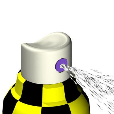 3d spray bottle model
