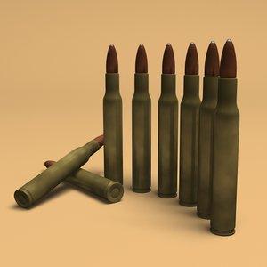 30-60 bullet 3d model