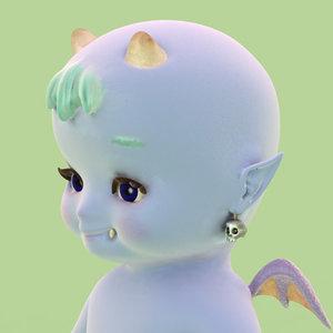 3dsmax devil baby