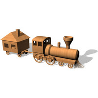 toy choochoo train 3d model