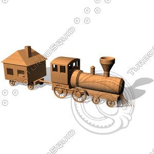 toy choochoo train 3d model
