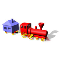 3d model toy choochoo train