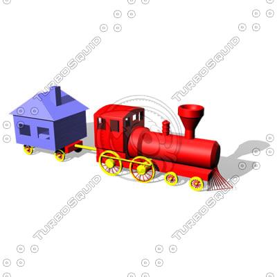 3d model toy choochoo train