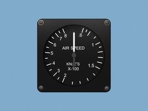 3d model air speed airspeed