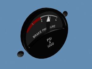 brake pressure brakepressure 3d model