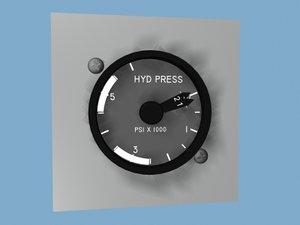 hyd pressure 3d model
