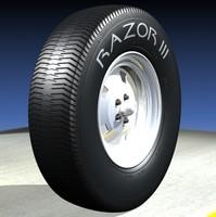 3d model vehicle tire