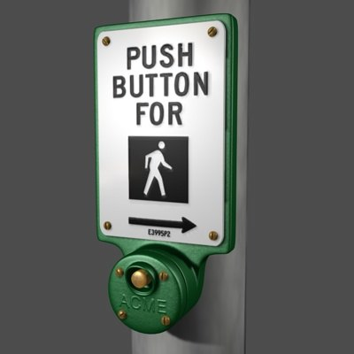 3ds street crossing sign button