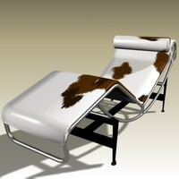 3d le corbusier chaise longue