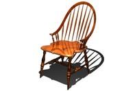 3d windsor dining chair model
