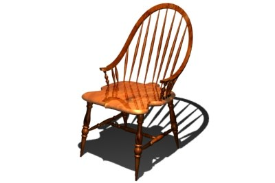 3d windsor dining chair model