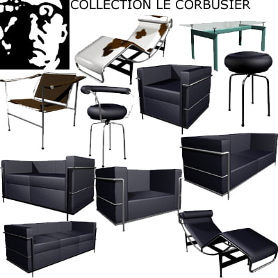le corbusier furnitures 3d model