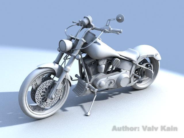 motocycle chopper 3d model