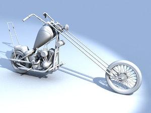 motocycle bobber 3d model