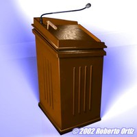 free wooden podium 3d model