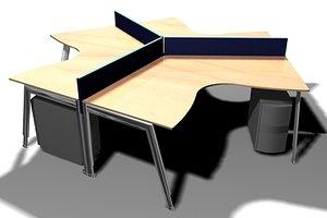 free office desk 3d model