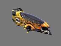 3d model racing hover car