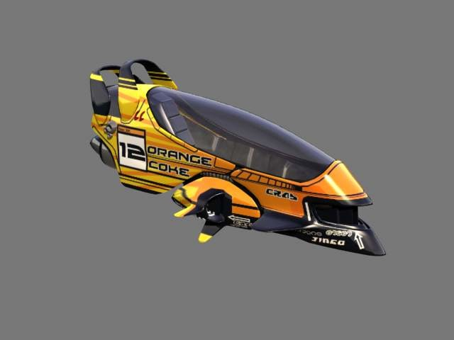 3d model racing hover car