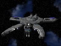 large alien starship 3d model