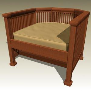 3d frank armchair model