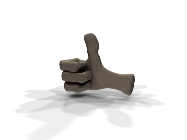 3d cartoon hand model