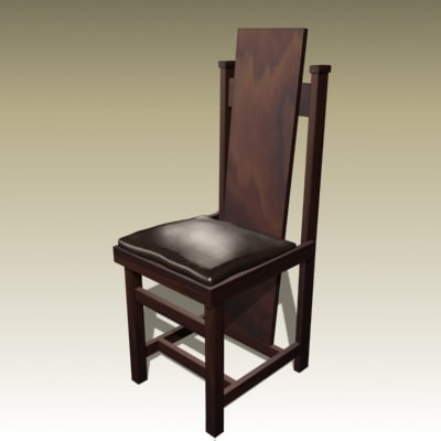 frank chair 3d model