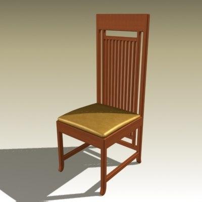 frank chair 3d max