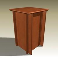 frank table 3d model