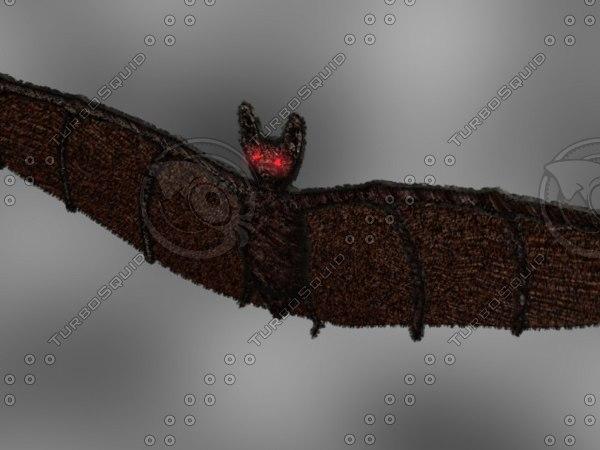 bat zipped 3d model