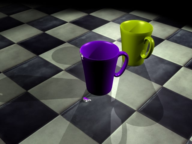 3d model of cups ed