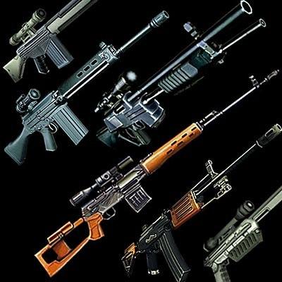 firearms pack sniper gun 3d model