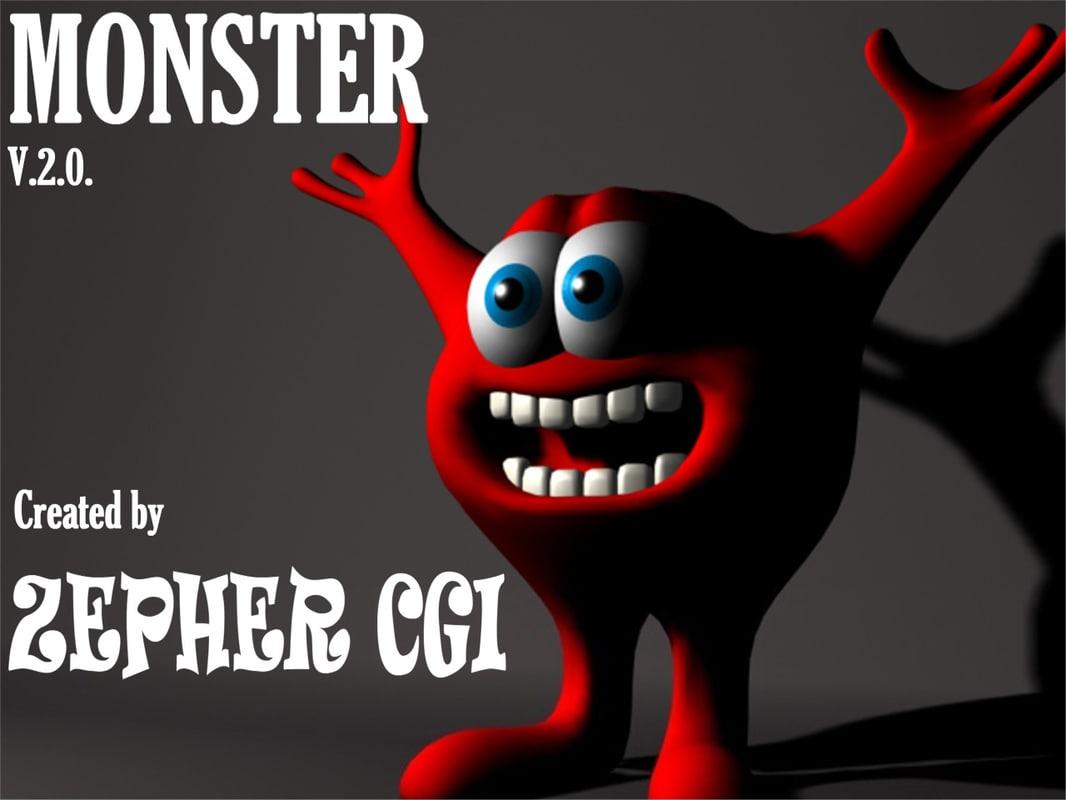 3d model cartoon monster