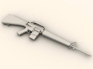 m16 rifle 3d model