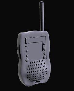 free radio communicator 3d model