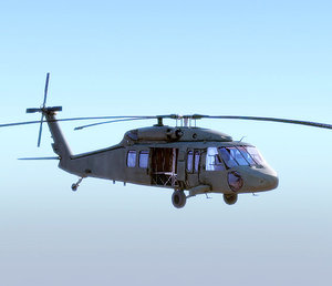 sikorsky uh-60 blackhawk helicopter 3d model