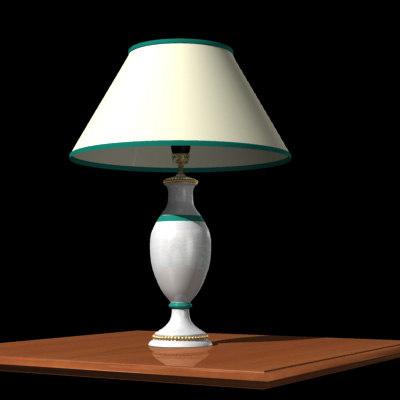 3d classic porcelain vase