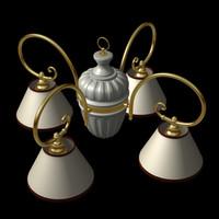 3d classic chandelier light model