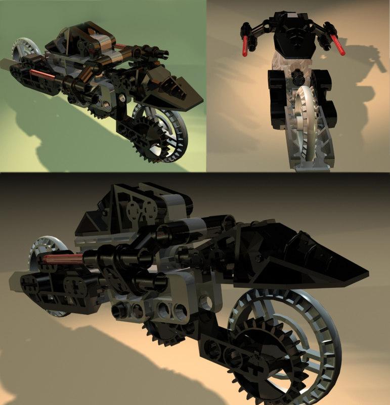 maya techniclego roborider motorcycle