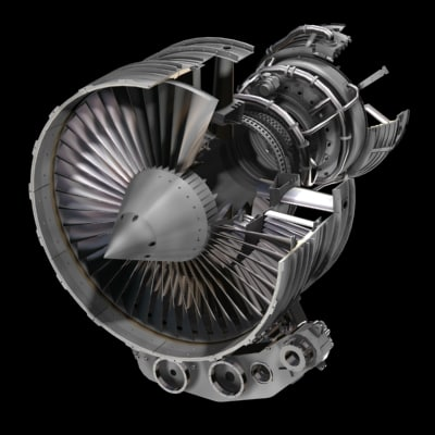aircraft engine jet 3d model
