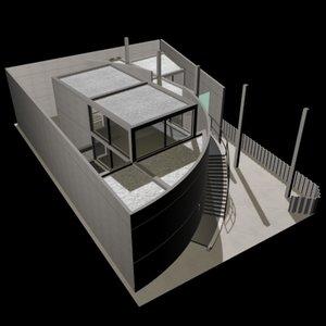 tadao ando house 3d model