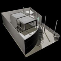 tadao ando house 3d model